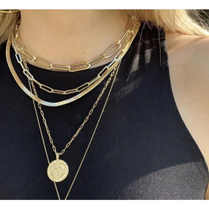 Ann Layering Gold Necklaces-Fig Tree Jewelry & Accessories