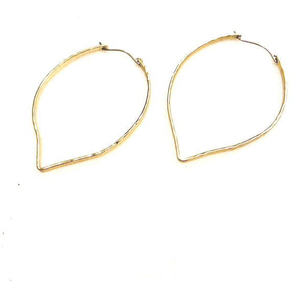 Kara Gold Hammered Hoop Earrings