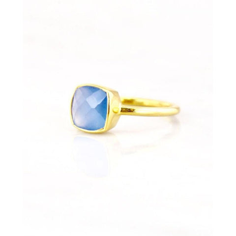 Claire Blue Chalcedony Ring