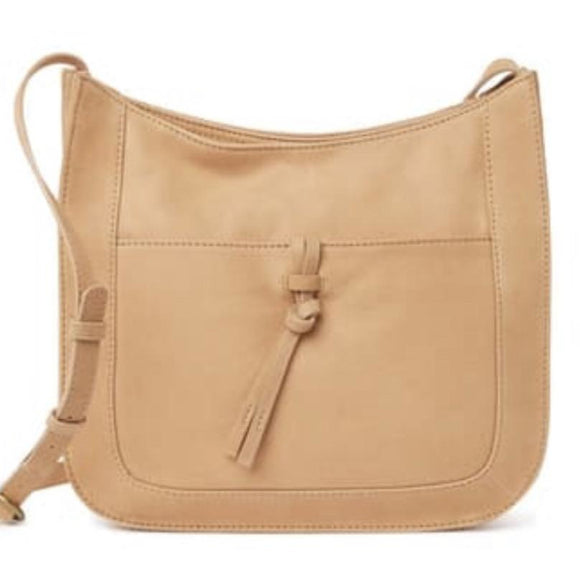 Lucky Brand Darb Leather Light Tan Crossbody Handbag