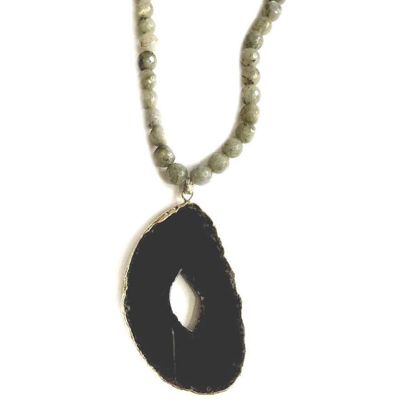 Abley Black Agate Necklace