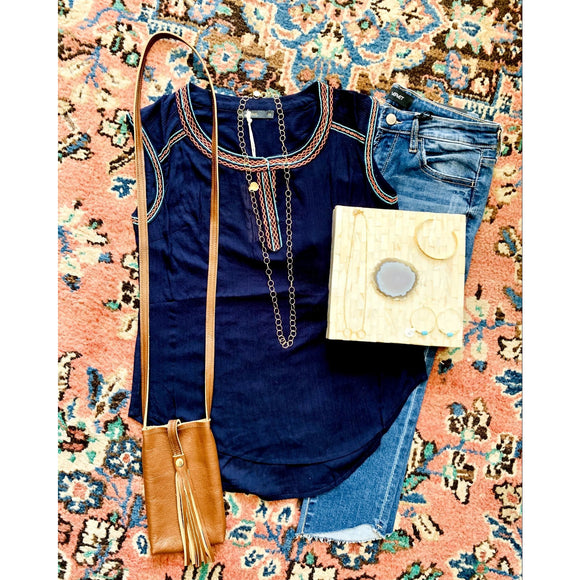 Ariana THML Navy Top