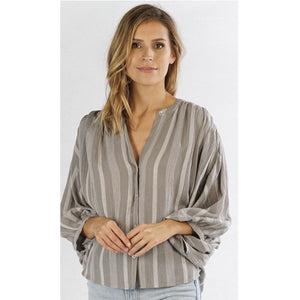 Aleah Lovestitch Striped Top I-12189W-QAO