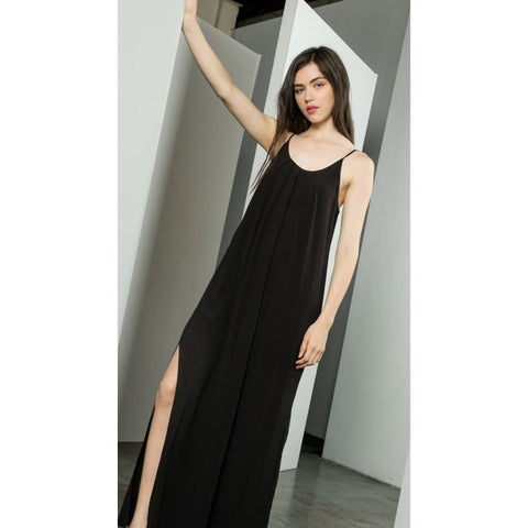 Blair Long THML Black Dress jh560