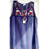 Thea THML Blue Embroidered Top-Fig Tree Jewelry & Accessories