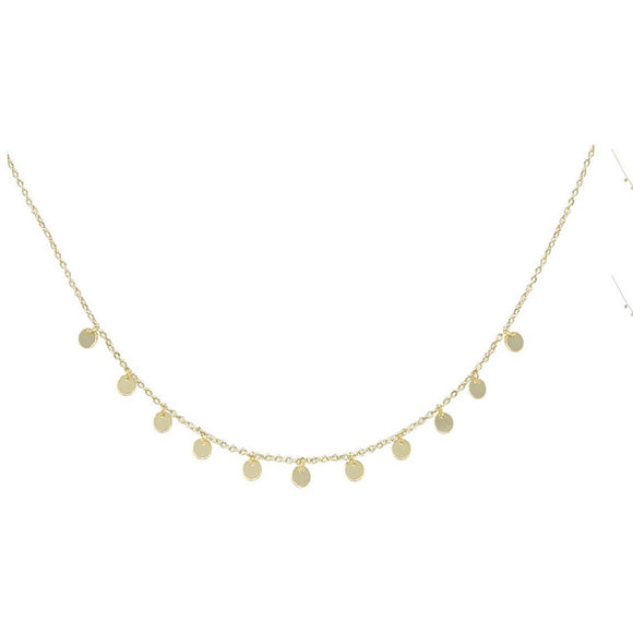 Lauren Star or Circle Dangle Gold Choker Extendable Necklace