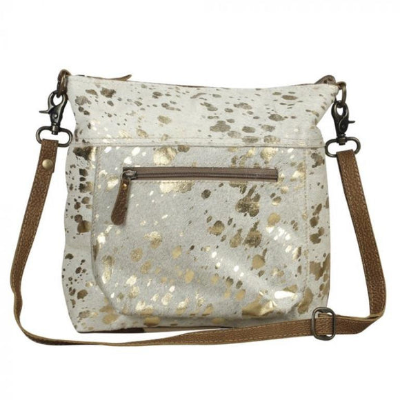 Gretchen Gold Foil Cowhide Large Tote  Handbag