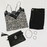 Oren Animal Print Lace Lovestitch Cami-Fig Tree Jewelry & Accessories