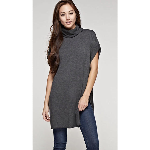 Zena Grey Tunic Lovestitch Sweater I-50166ca