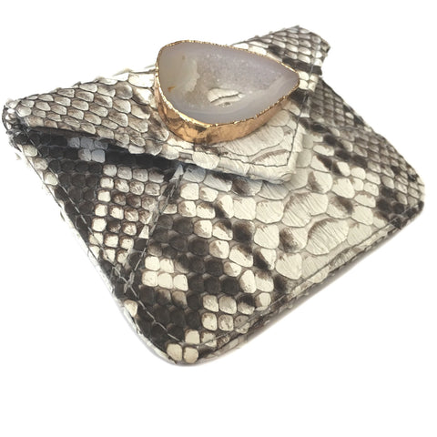 Abria Agate Python Card Holder