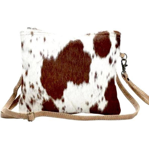 Brio Brown Cowhide Crossbody Handbag