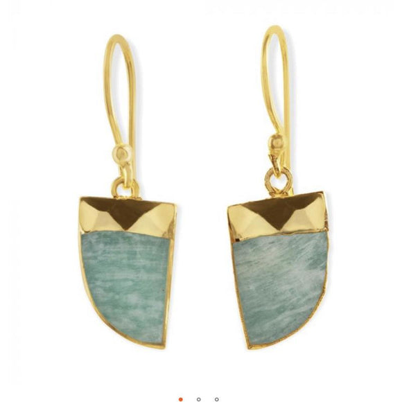Andi Stone Gold  Drop Earrings
