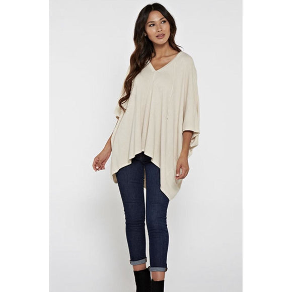 Kali Flowy Lightweight Off White Tee with Open Sleeves