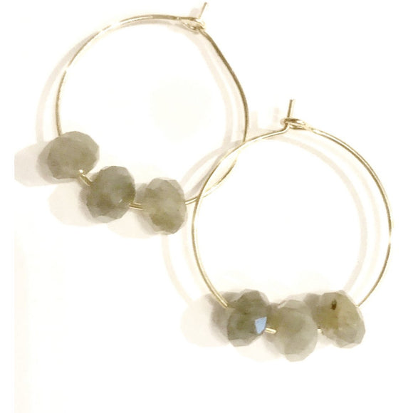 Addie Hoop Beaded Earrings