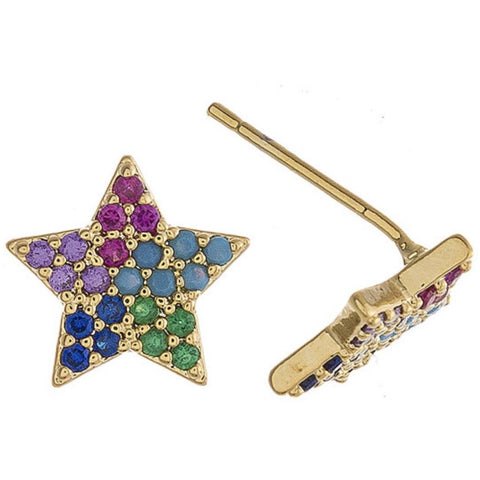 Lauren Star Multi Color Stud Earrings