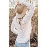 Ariel Long-sleeve White Tee Lovestitch