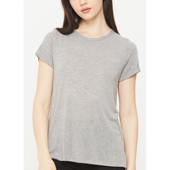 Melrose Light Grey Crew Neck T-Shirt by Comune C19X100-Fig Tree Jewelry & Accessories
