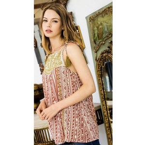 Valencia Embroidered THML Top-Fig Tree Jewelry & Accessories