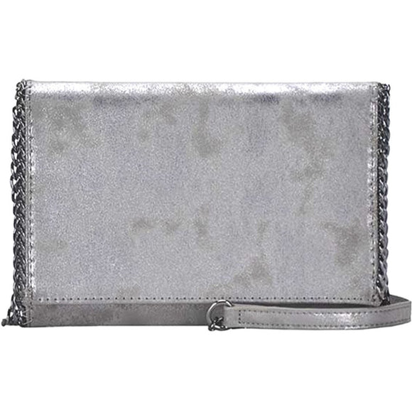 Luna Pewter Metallic Crossbody Handbag-Fig Tree Jewelry & Accessories