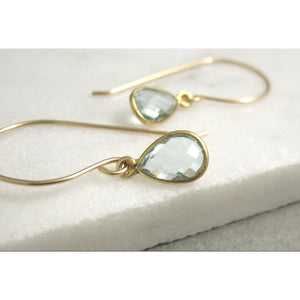 Turin Blue Topaz Bezeled Earrings