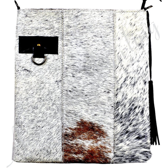 Kelly Cowhide Large Messenger Crossbody Handbag