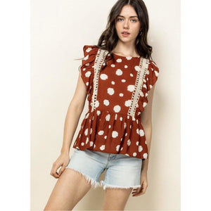 Aline THML Spotted Flutter Top WCT687