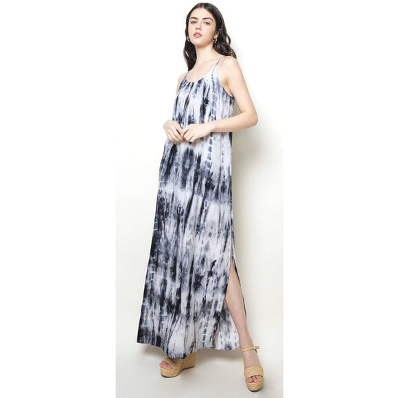 Ablita THML Tie Dye Maxi Slit Dress JH1076