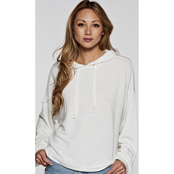 Theo Ivory Pullover Hoodie : I-11447K-PHG