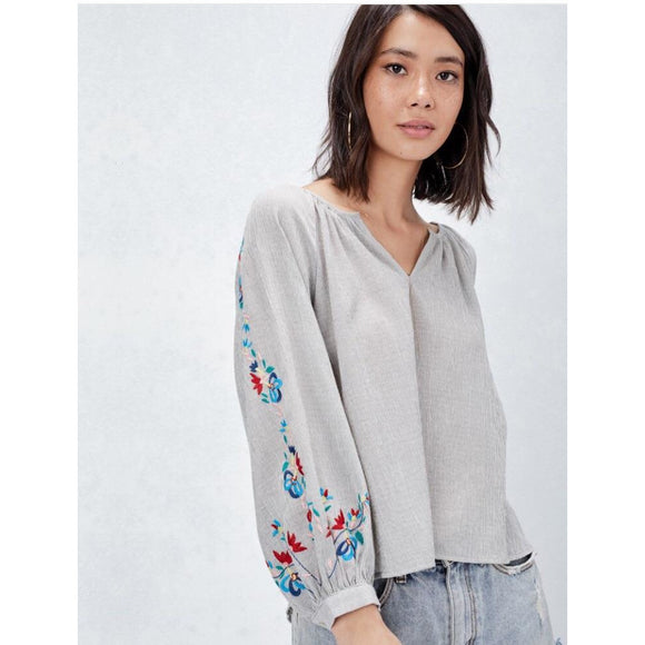 Nisa Embroidered Top Lovestitch