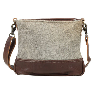 Brio Grey Cowhide Leather Crossbody Handbag-Fig Tree Jewelry & Accessories
