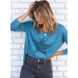Lexi Vintage Wash Lightweight Star Lovestitch Tee-Fig Tree Jewelry & Accessories