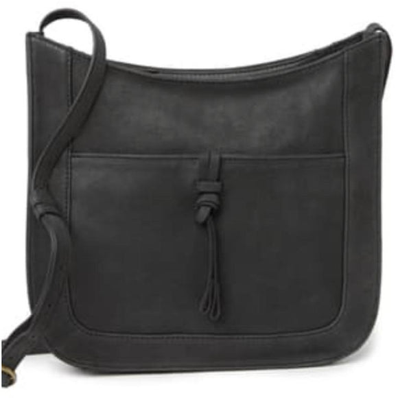 Lucky Brand Darb Leather Black Crossbody Handbag