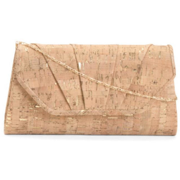 Adley Cork Gold Accented Chain Crossbody