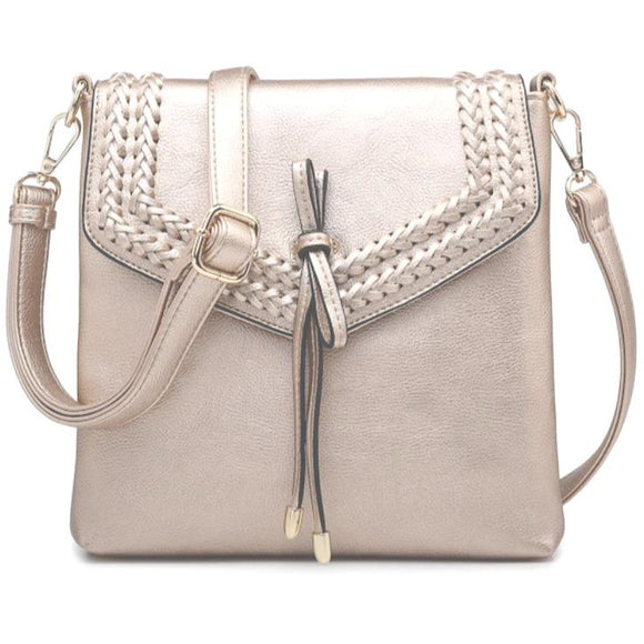 Alisa Braided Rose Gold Crossbody