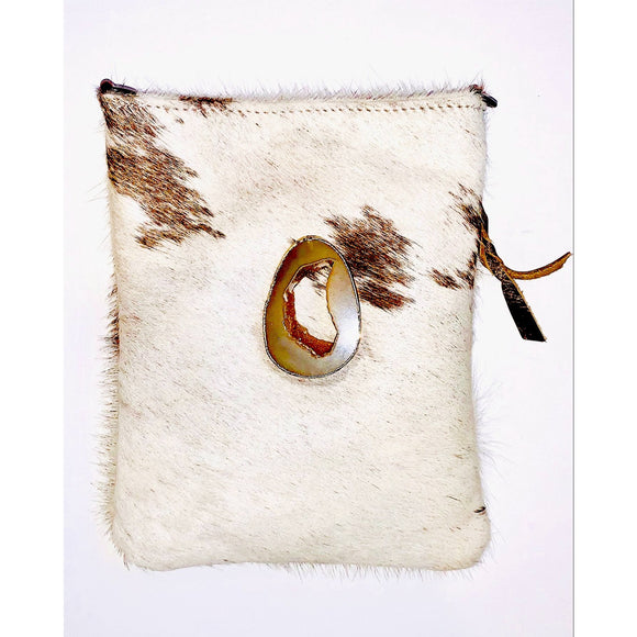 Lara Gold Agate Clutch Crossbody Handbag
