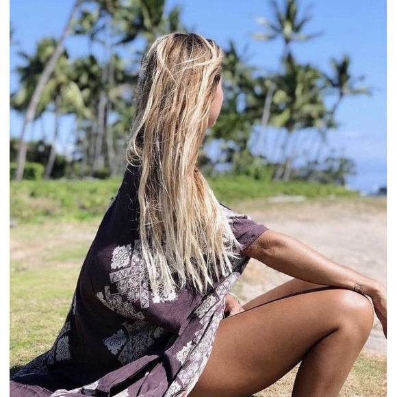 Lita Beach Purple Tie Dye Kimono Swim Wrap I-11595W-Fig Tree Jewelry & Accessories