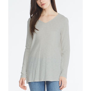 Malibu Light Grey LS V Neck T-Shirt by Comune C19L59