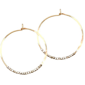 Addie Silver Beaded Gold Hoop Earrings