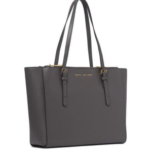 Marc Jacobs Grey Leather Tote Handbag