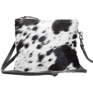 Brio Black Grey Cowhide Crossbody Handbag-Fig Tree Jewelry & Accessories