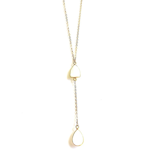 Acea Double Moonstone Y Necklace