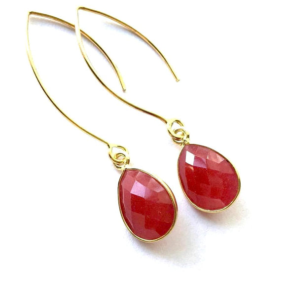 Turin Ruby Quartz Earrings