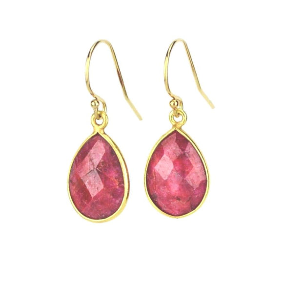 Andi Ruby Quartz Dangle Earrings