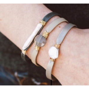 Brea Single Leather Wrap Bracelets
