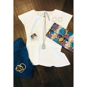 Bella Soft White Silky Dahlya Top-Fig Tree Jewelry & Accessories
