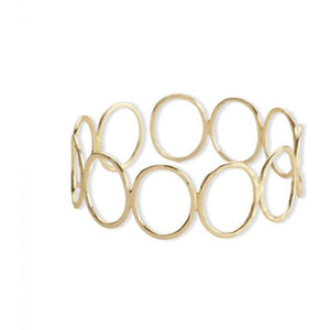Ariel Gold Looped Oval Bracelet