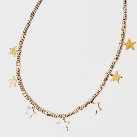 Lauren Star Choker Crystal Necklace