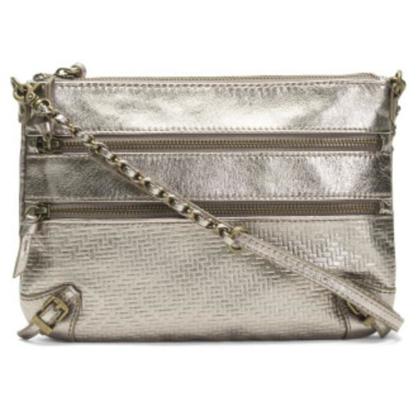 Romana Leather Metallic Crossbody Handbag by The Sak