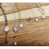 Maya Moonstone Bezel Pendant Necklace