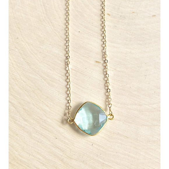 Grace Blue Quartz Pendant Necklace
